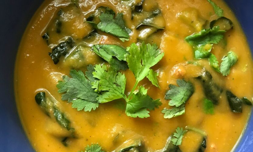 Butternut squash & kale soup