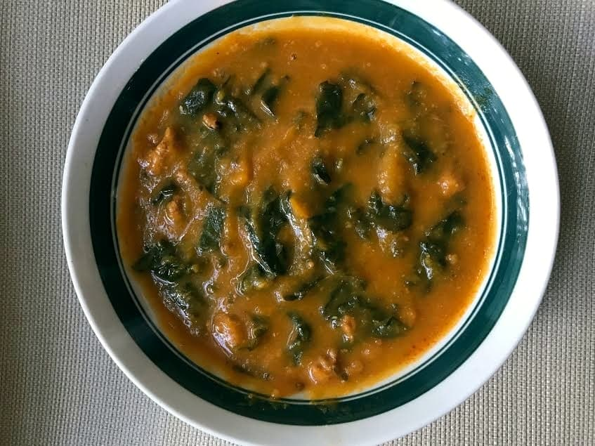 butternut squash kale chorizo soup
